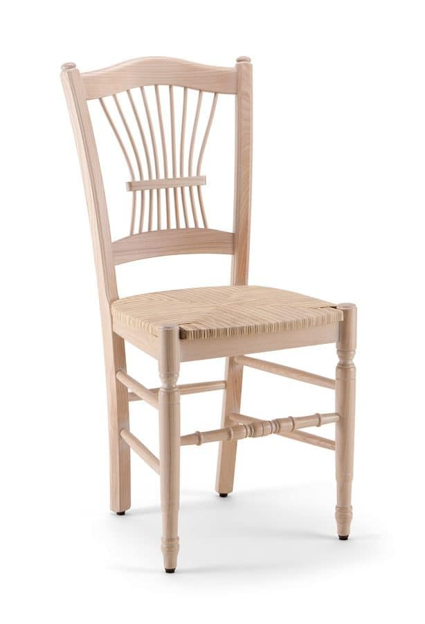 Midollino sedia sedia in legno per cucina sedia classica for Sedie per cucina classica