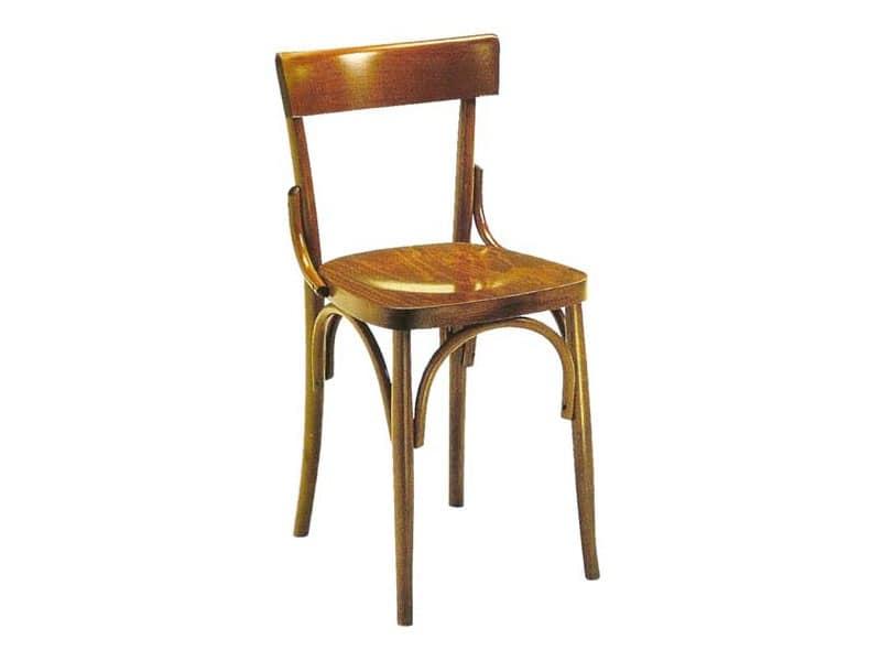 Sedia robusta in legno curvo per birrerie e pub idfdesign for Sedie design milano