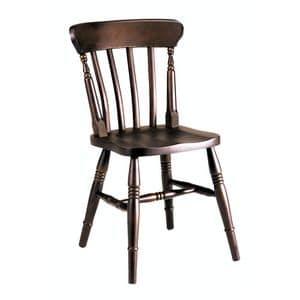 Old sedia, Sedia completamente in massello di faggio, per bar e pub
