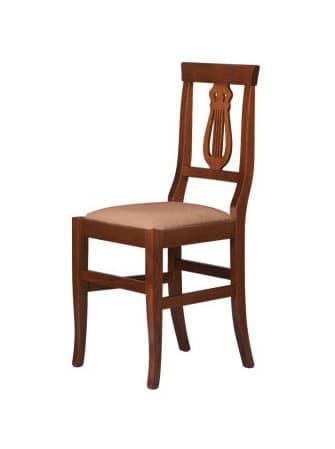 R02, Sedia rustica in legno massello, seduta in vari materiali
