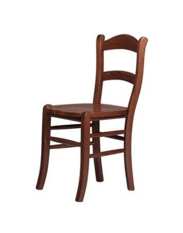 R06, Sedia rustica in faggio massello, seduta in vari materiali