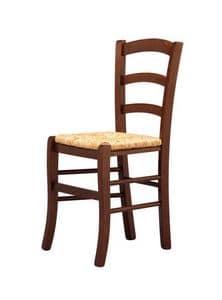 R07, Sedia rustica, seduta in paglia, per bar e enoteche