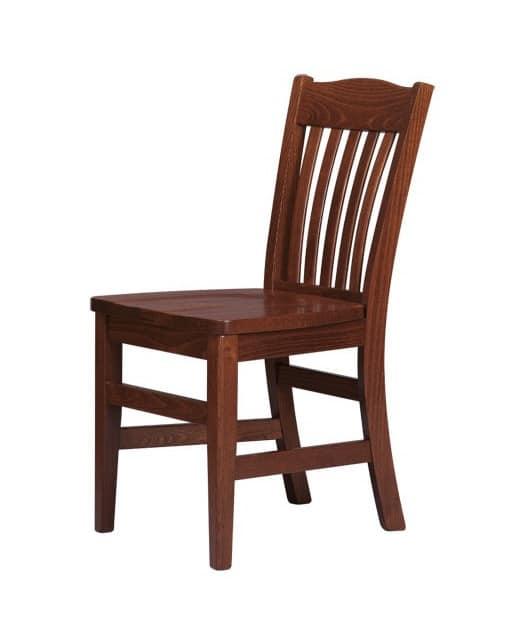 R11, Sedia interamente in legno massello, per uso contract