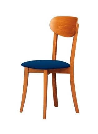 Sedia legno naturale adatta per cucine classiche e for Sedie design legno naturale