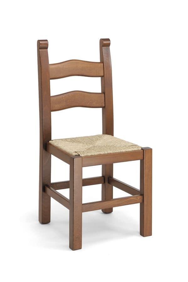 Sedia rustica per taverne sedia in legno per ristoranti for Sedia design srl