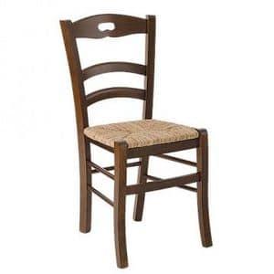 Savoy foro, Sedia rustica con seduta in paglia per agriturismo
