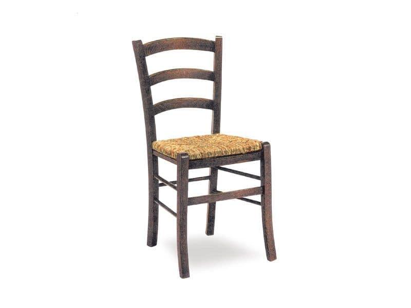 SE 119, Sedia provenzale, con seduta in paglia, per enoteca
