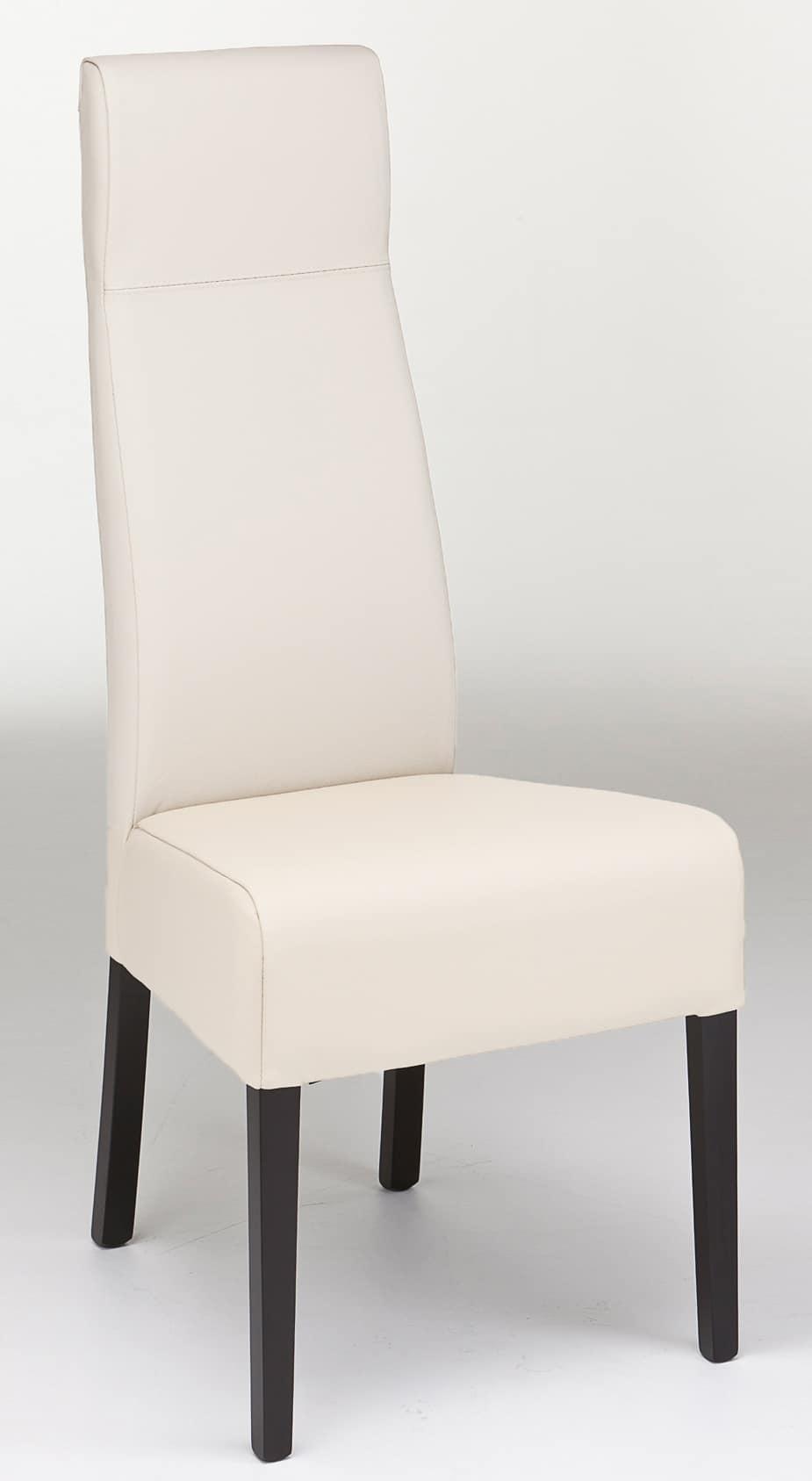 Sedia in legno con schienale alto ideale per ristoranti for Sedia design schienale alto