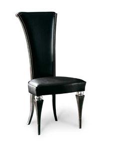 Art. 181/P, Elegante sedia da pranzo con schienale alto