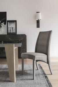 ATENE SE510, Sedia in legno con schienale alto, rivestita in soft touch