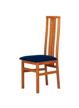 Sedia in faggio con schienale alto seduta imbottita for Sedia design schienale alto