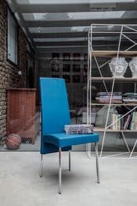 CHARONNE, Sedia da pranzo moderna, schienale alto, per ristorante