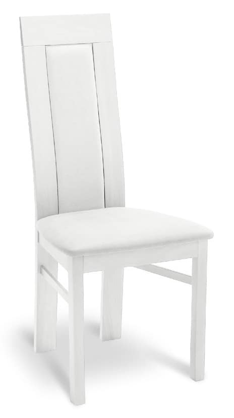 Sedia in legno imbottita con schienale alto per for Sedia design schienale alto