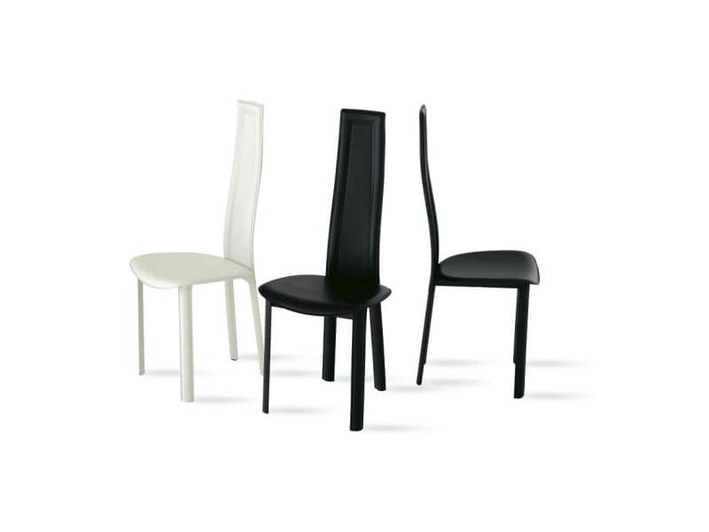 Sedie design dwg artek sedia chair d model max obj ds fbx for Sedie design schienale alto
