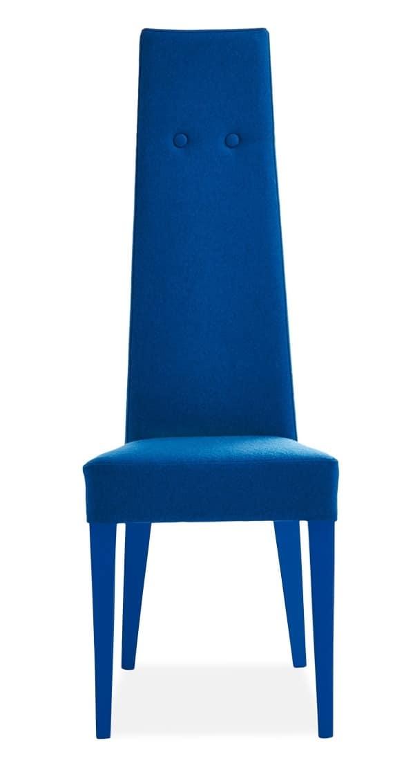 Sedia imbottita con schienale alto idfdesign for Sedia design schienale alto