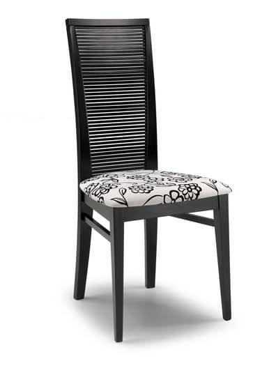 Sedia moderna per uso contract, con schienale alto | IDFdesign