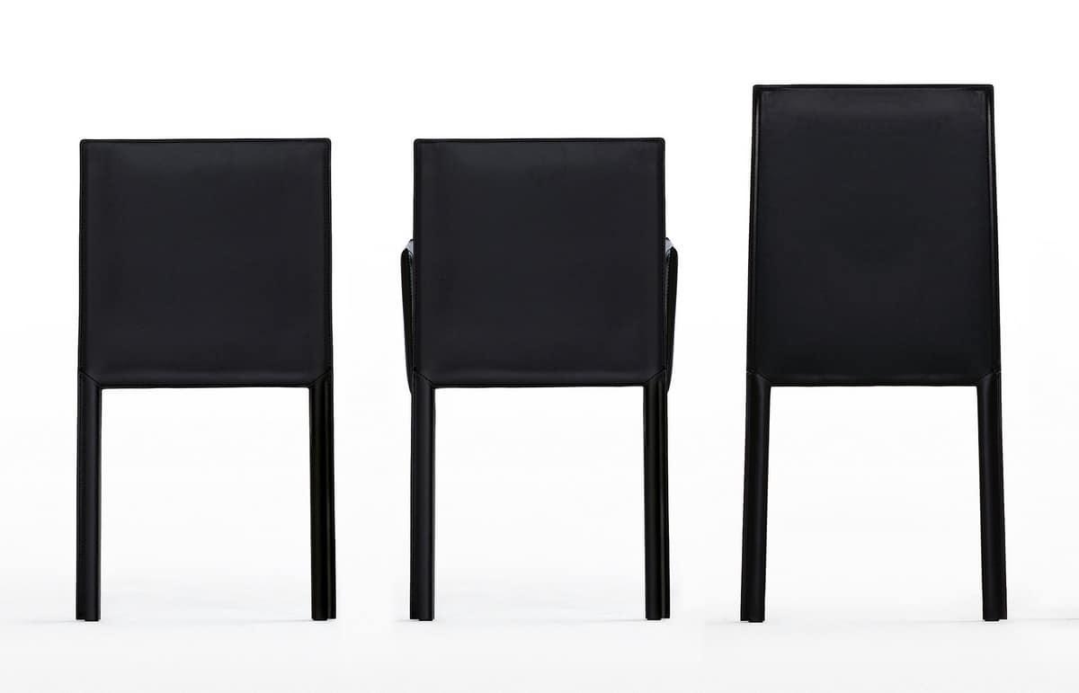 Sedie Schienale Alto Economiche : Sedia in cuoio con schienale alto dalla forma leggera idfdesign