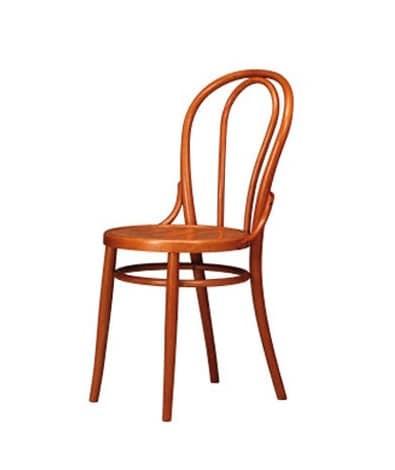 sedia con decoro vecchio stile in faggio uso