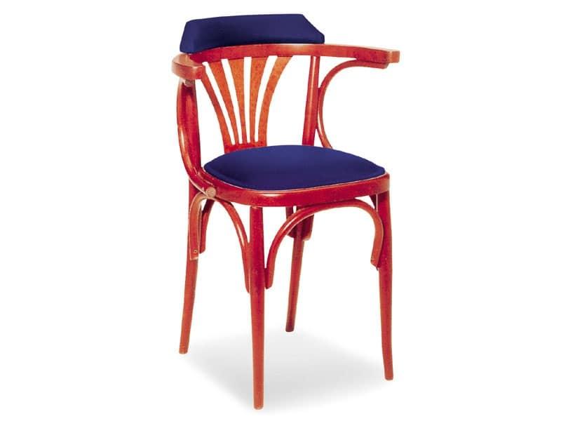 Sedia in legno decorato con braccioli vecchio stile for Sedie design 900