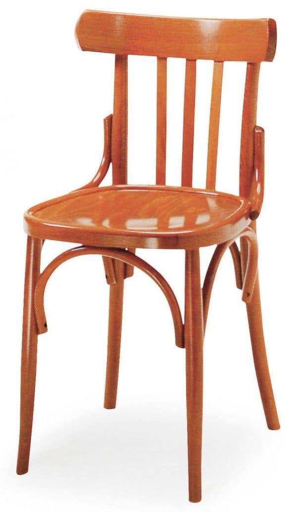 Sedia in legno curvo schienale a motivo verticale ideale for Sedie design 900