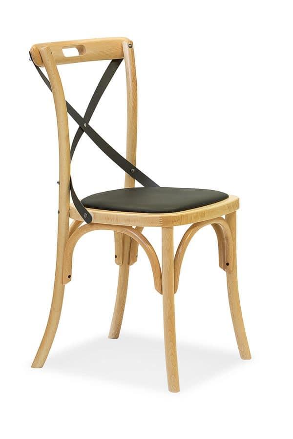 Sedia in legno curvo seduta imbottita idfdesign for Sedie design 900