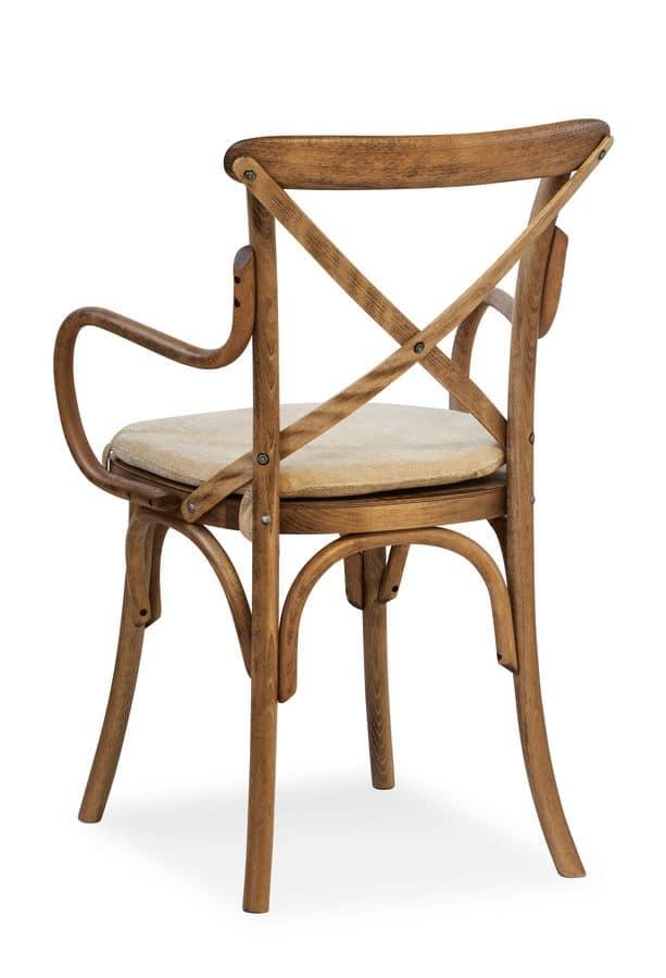 Sedia in legno curvo con braccioli idfdesign for Sedie design 900