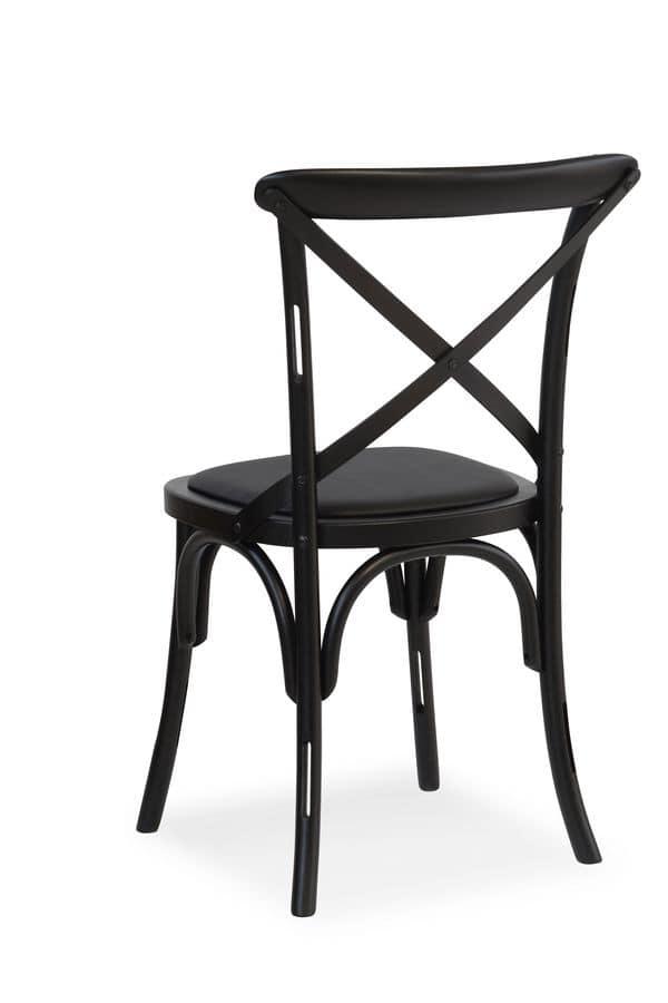 Sedia in legno massello seduta rivestita in tessuto for Sedie design 900
