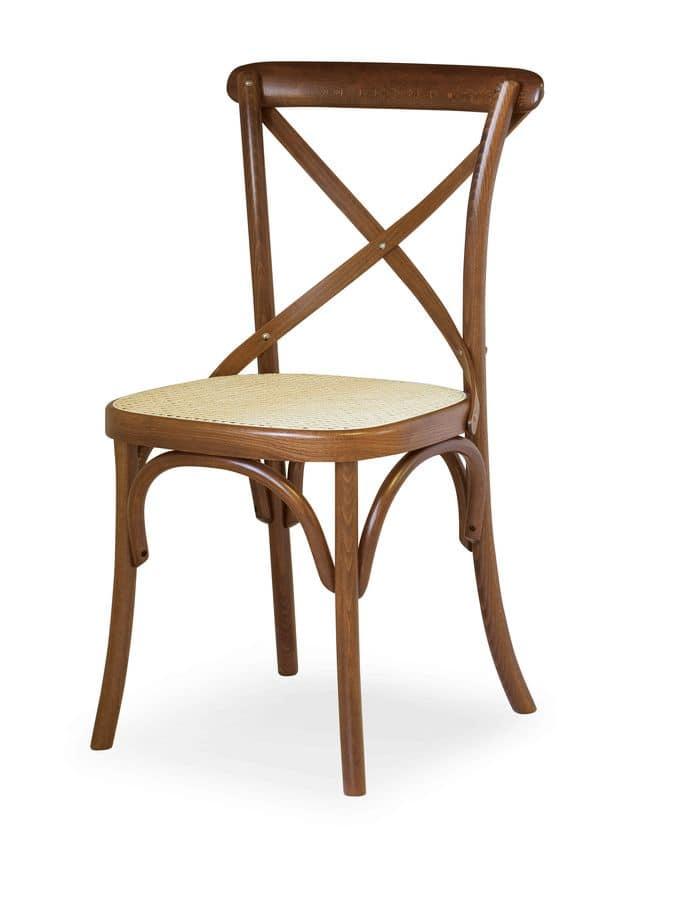 Sedia in legno di faggio seduta in paglia di vienna for Sedia design paglia di vienna