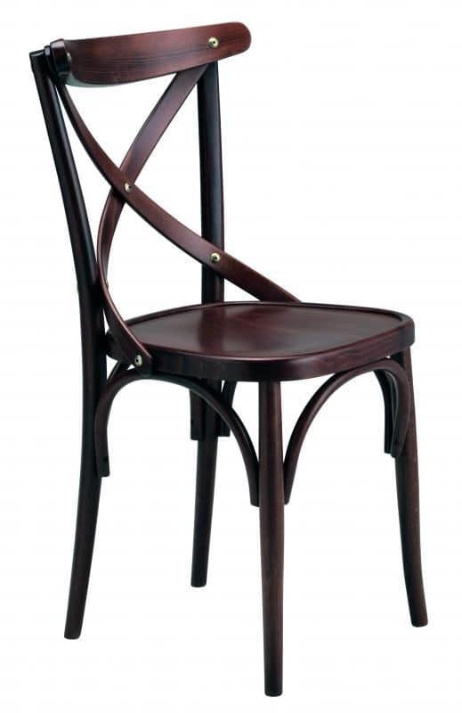 Croce, Sedia in legno curvato ideale per pub, bar, ristorante