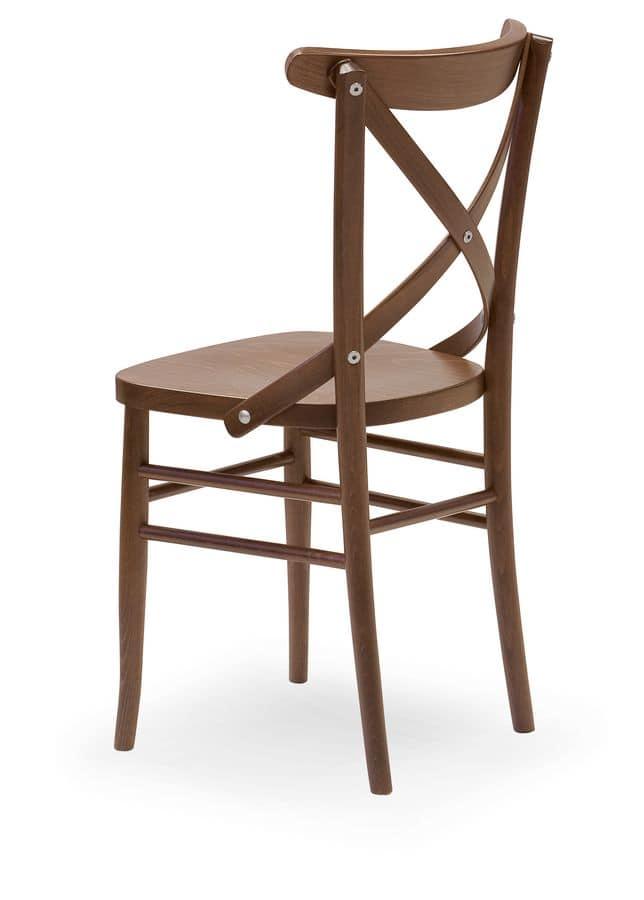 Sedia con struttura in faggio per ristoranti idfdesign for Sedie design 900