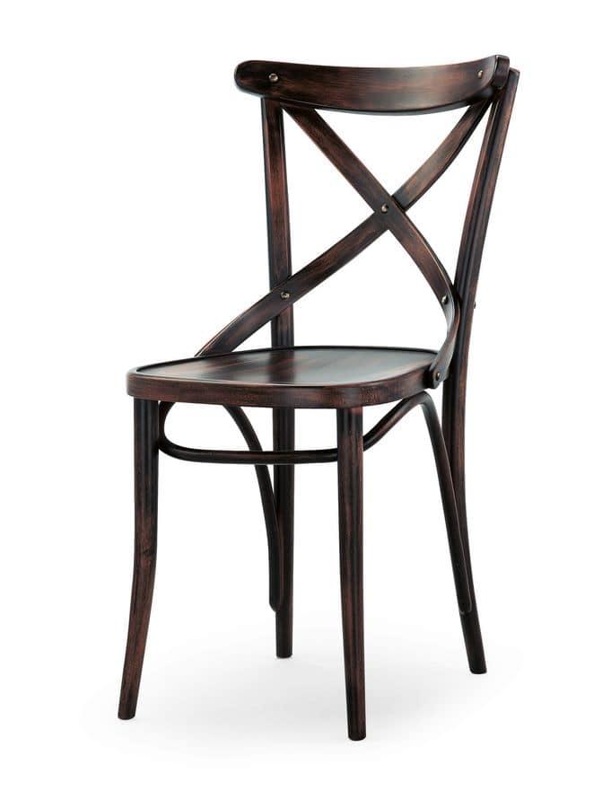 Sedie in legno senza braccioli, per ristorante e bar | IDFdesign