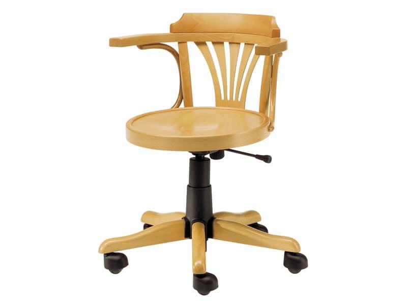 Sedia in legno con ruote altezza regolabile idfdesign for Sedie design 900
