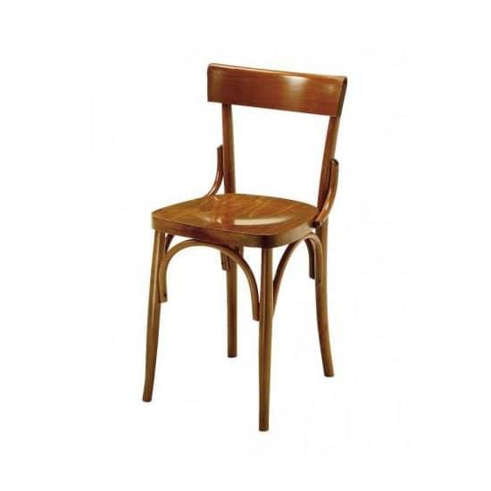 Sedia in legno curvato a vapore per bar e osterie idfdesign for Sedia design legno curvato