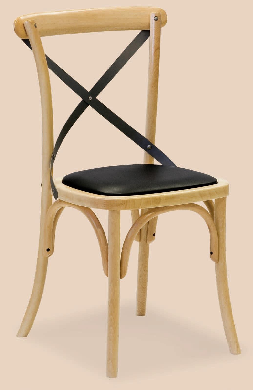 SE 431 / M, Sedia con seduta imbottita,  in legno curvato