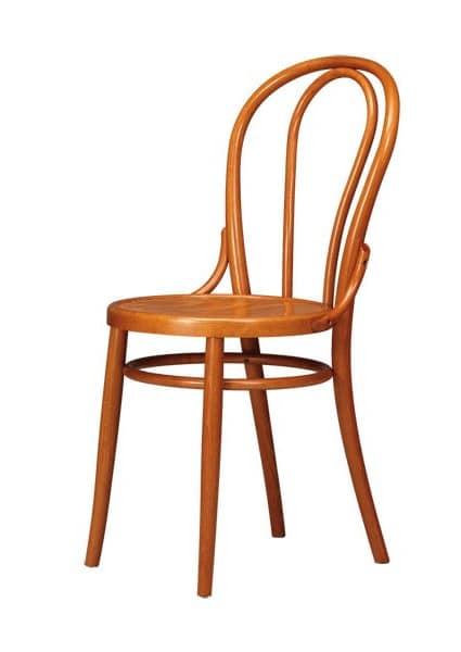 V02, Sedia in legno curvo di faggio per Osteria e birrerie