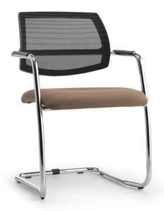 Air One Soft 03, Sedia visitatore con schienale in rete, per ufficio
