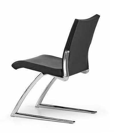 AVIA 4050, Sedia visitatore con seduta e schienale imbottiti, per ufficio