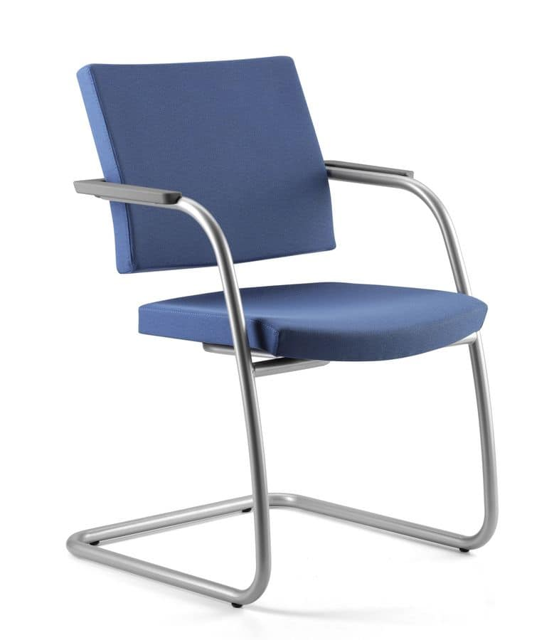 Sedia visitatore per ufficio imbottita copribraccioli for Amazon sedie ufficio
