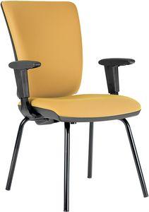 Comfort 4 gambe, Sedia imbottita, per ospiti ufficio