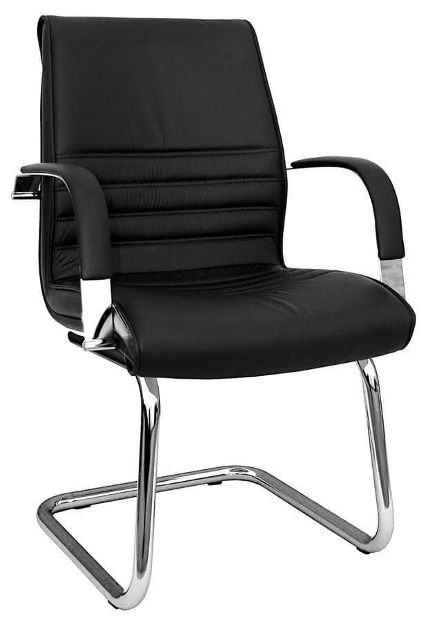 Sedia per ospiti ufficio con rivestimento for Sedie ufficio design