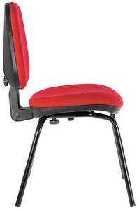 Ergovar 4 gambe, Seduta per ufficio, con schienale regolabile