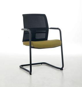 Omnia Plus 05, Sedia visitatore ufficio con schienale in rete