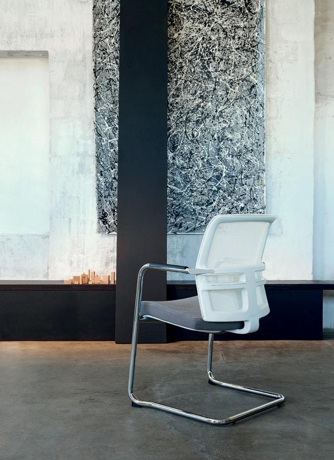 Omnia White 05, Sedia per clienti ufficio
