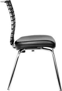 Prestige 4 gambe, Sedia ufficio con base a quattro gambe, schienale in rete