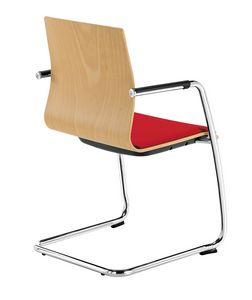 Q2 WIM, Sedia con base cantilever, per visitatori ufficio