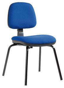 Sofia 4 gambe, Sedia per cliente ufficio, con altezza schienale regolabile