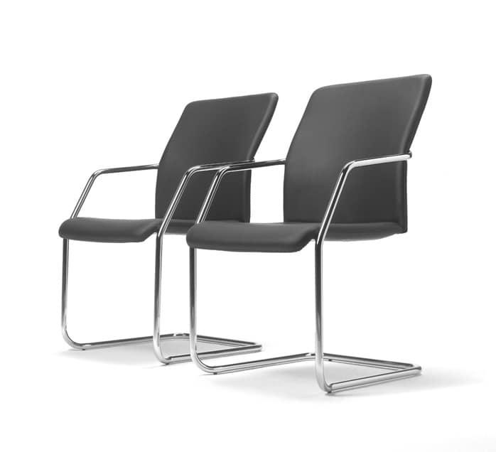 Sedia ufficio impilabile con base in acciaio piegato for Negozi sedie ufficio