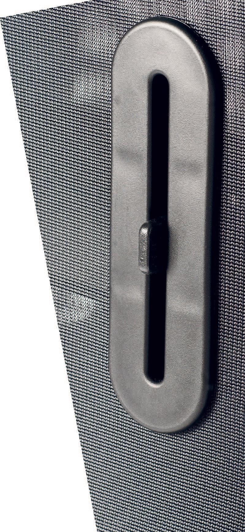 UF 458 S, Sedia a slitta con schienale in rete, made in Italy