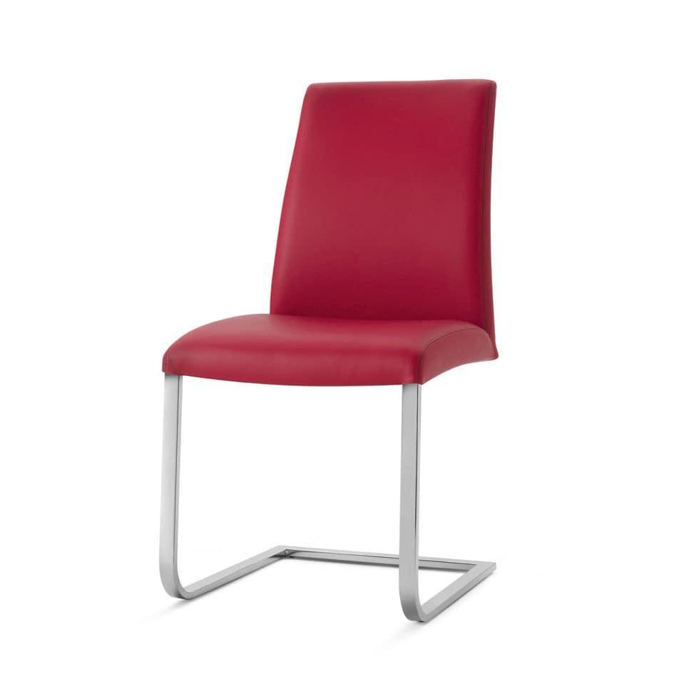 Sedute sedie ufficio visitatore seduta in pelle idfdesign for Sedie ufficio genova