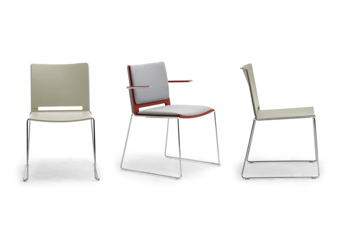 Sedia impilabile stile moderno idfdesign for Sedie ufficio design